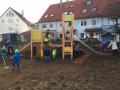 Sand schaufeln