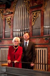 Kultur: Matthäus-Nacht 2014 Orgelvirtuose Gerald Fink und Sopranistin Karin Kraus. Foto: Joachim Sobczyk Datum: 30.08.2014