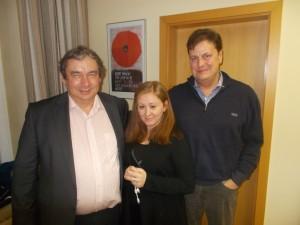 Männerrunde Vach: Arnold Geiger, Arlinda Merdani , Dr. Frank Sinning